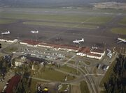 Helsinki Airport from air in the 1960s