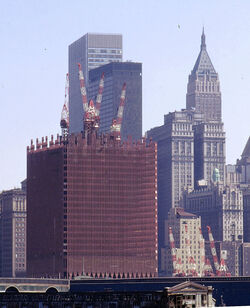Twin Towers under construction
