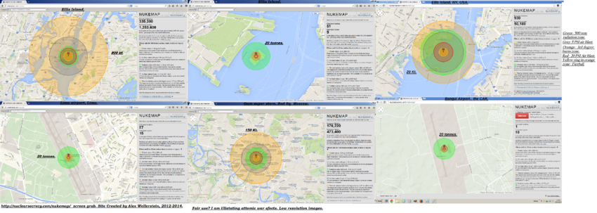 Nuclearsecrecy nukemap screen grab