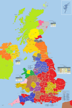 A UK interim DNA grouping map (2010s)
