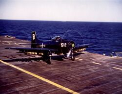 AD Skyraider VA-195 USS Princeton
