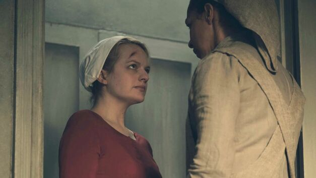 Offred and Rita in The Handmaid's Tale