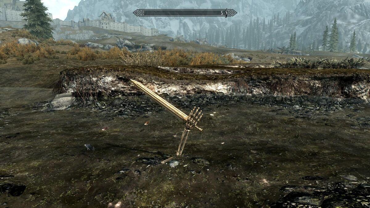 Skyrim Easter Egg Excalibur Sword