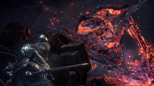 A screenshot of Dark Souls III The Ringed City.