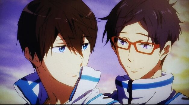 Haruka and Rei in Free! Take Your Marks