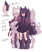 Shirokuro character design