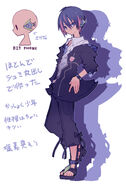 Natsukage character design