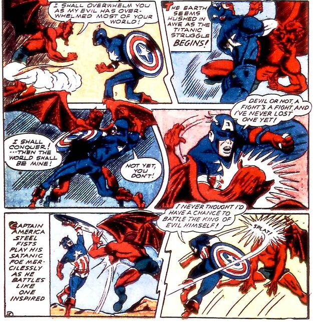 Captain America vs Satan 001