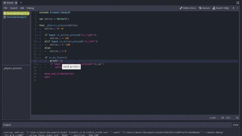 Godot screenshot coding