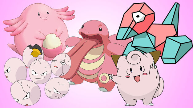 Pokemon: Clefairy, Lickitung, Porygon, Chansey