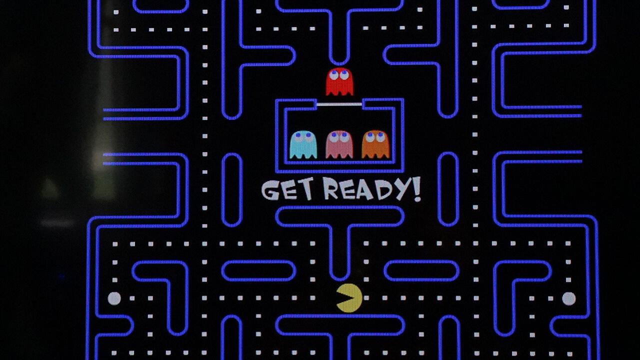 the classic Pac-Man arcade game