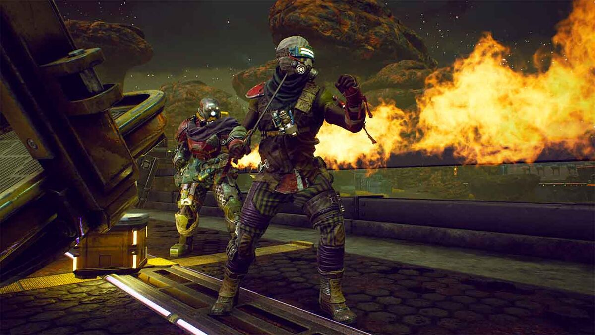 Outer Worlds flamethrower soldiers