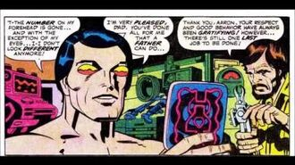 First Machine Man (Mr. Machine) from 2001 A Space Odyssey 8 (Jack Kirby art)