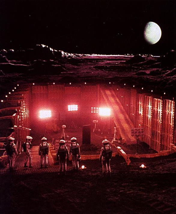 Buzz aldrin monolith moon
