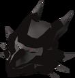 Black dragon mask detail
