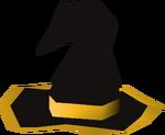 Black wizard hat (g) detail
