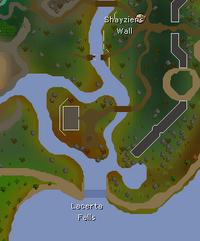 Lacerta Falls map