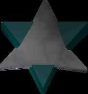 Star amulet detail
