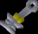 Strange implement