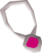 Topaz amulet detail