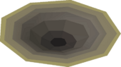 Inconspicuous hole