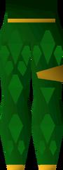 Green d'hide chaps (g) detail