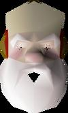 Santa mask detail