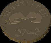 Ancient coin museum exhibit
