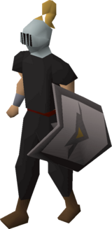 Heraldic helm (Dorgeshuun) equipped