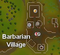 Barbarian Village Helmet Shop map