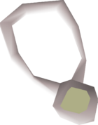 Opal amulet detail
