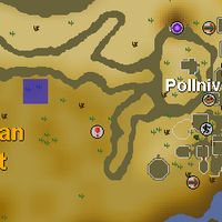 Hot cold clue - west of Pollnivneach map