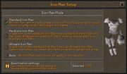Ironman Mode setup