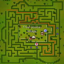 Tree Gnome Village dungeon location map
