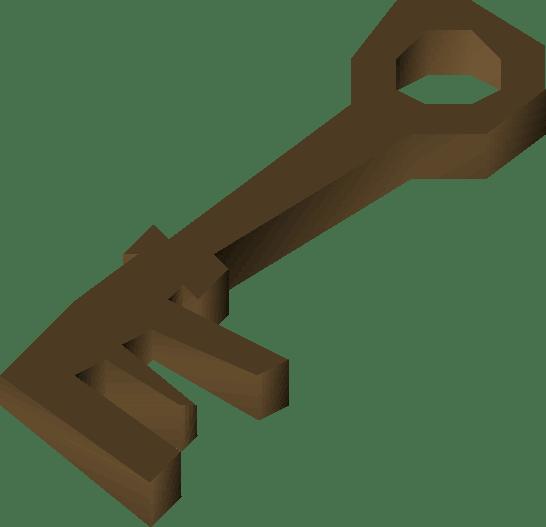 Bronze key (Prince Ali Rescue) detail