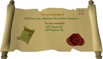 Goblin Champion reward