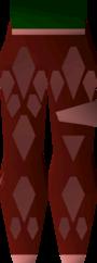 Red d'hide chaps (t) detail