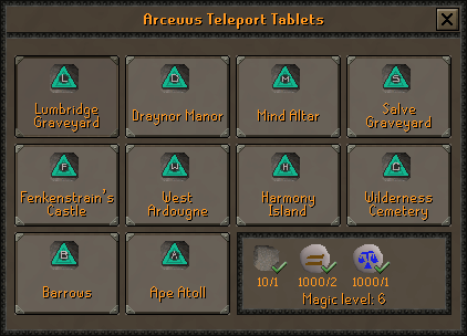 Necromancy Teleport Tablets (2)