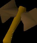 Bronze thrownaxe detail
