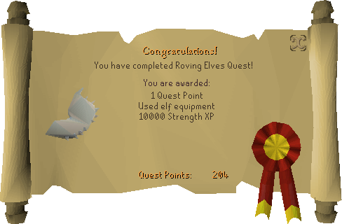 Roving Elves reward scroll