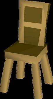 Wooden chair built