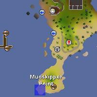 Hot cold clue - mudskipper point map