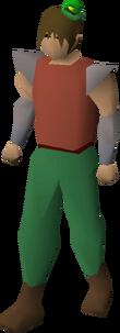 Leprechaun hat equipped