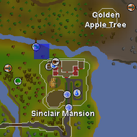 Hot cold clue - near Sinclair Mansion map