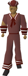 Red naval set equipped