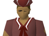 Red naval shirt