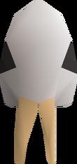 Skeletal helm detail