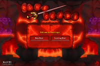 Inferno login screen