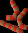 Red vine worm detail