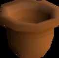 Empty plant pot detail